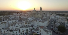 Aerial drone shooting on Locorotondo Puglia Italy Stock Footage