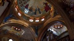 The interior Coptic Orthodox Church of Sharm el-Sheikh Stock Footage
