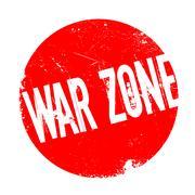 War Zone rubber stamp Stock Illustration