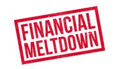 Financial Meltdown rubber stamp Stock Illustration