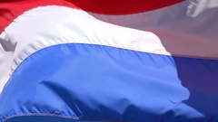 Video of Dutch Flag in 4K Stock Footage