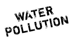 Water Pollution rubber stamp Stock Illustration