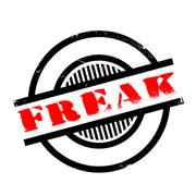 Freak rubber stamp Stock Illustration