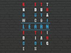 Education concept: Learn in Crossword Puzzle Stock Illustration