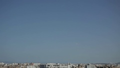 Plane over the city Stock Footage
