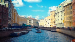 Moyka River in St.petersburg Stock Footage