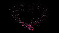 Heart Draw with Alpha Channel Valentine's Day Stock Footage