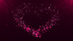 Background Heart Draw Valentine's Day Stock Footage