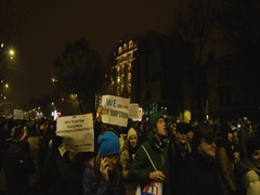 People marching against corruption Stock Footage