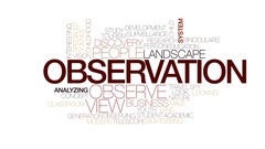 Observation animated word cloud, text design animation. Kinetic typography. Stock Footage