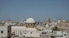 Tunis view on roofs Stock Footage