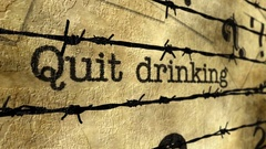 Quit drinking barbwire concept Stock Footage