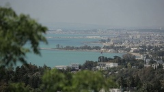 Tunis view from above Stock Footage