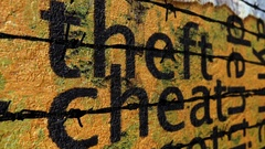 Theft and cheat barbwire concept Stock Footage
