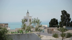 Tunis view of the sea Stock Footage