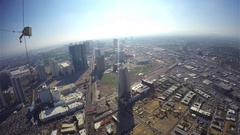 Aerial timelapse video of the city center, from the stratosphere tower. Stock Footage