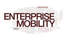 Enterprise mobility animated word cloud, text animation. Kinetic typography. Stock Footage