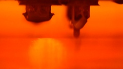 Stereolithography DPL 3d printer create small detail and liquid drips Stock Footage