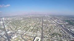 Aerial timelapse video of the city suburbs, from the stratosphere tower. Stock Footage