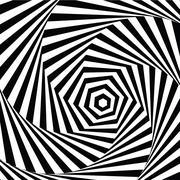 Vector illustration motley visual and optical illusion star-shaped black white Stock Illustration