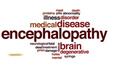 Encephalopathy animated word cloud, text design animation. Stock Footage