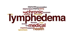 Lymphedema animated word cloud, text design animation. Stock Footage