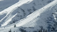Alpine Ski Slope Stock Footage