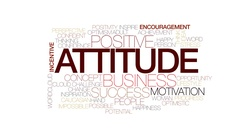 Attitude animated word cloud, text design animation. Kinetic typography. Stock Footage
