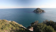 Top view on the Ligurian cliffs Stock Footage
