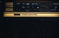 Old Retro Bass Amp Stock Photos