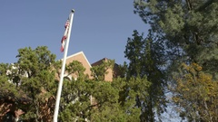 The street front and entrance of the City of Davis offices Stock Footage