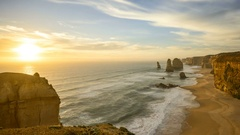 The 12 Apostles, Port Campbell, Victoria Australia. Stock Footage