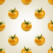 Seamless background of tomato, vector illustration. Stock Illustration
