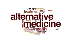 Alternative medicine animated word cloud, text design animation. Stock Footage