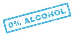 0 Percent Alcohol Rubber Stamp Stock Illustration