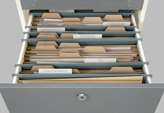 Filing Cabinet Drawer Open Tax Piirros