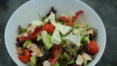 A vegetable salad close up Stock Footage