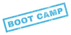 Boot Camp Rubber Stamp Stock Illustration