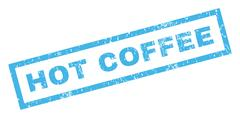 Hot Coffee Rubber Stamp Stock Illustration