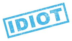 Idiot Rubber Stamp Stock Illustration