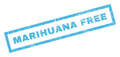 Marihuana Free Rubber Stamp Stock Illustration