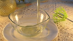 Raw egg mixed with sugar in a bowl Stock Footage