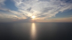 Close to sunset over Lake Michigan Stock Footage
