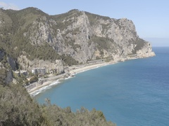 The Ligurian coast view from above Stock Footage