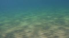 Sunreflections on sandy ground Stock Footage