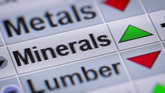 Minerals index on the screen. Up. Looping. Stock Footage