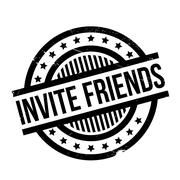 Invite Friends rubber stamp Stock Illustration