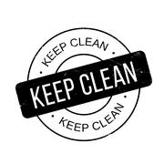 Keep Clean rubber stamp Stock Illustration