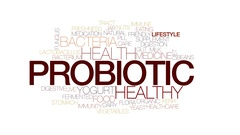Probiotic animated word cloud, text design animation. Kinetic typography. Stock Footage