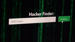 Hacking DDOS Attack Stock Footage